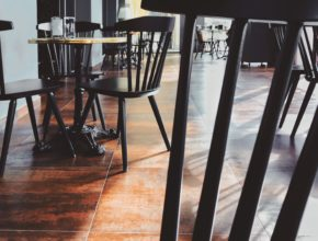 cafe, tables, chairs, empty