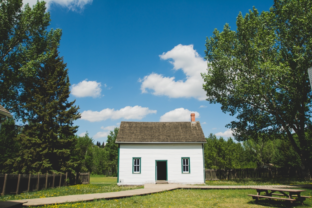 Small building in country
